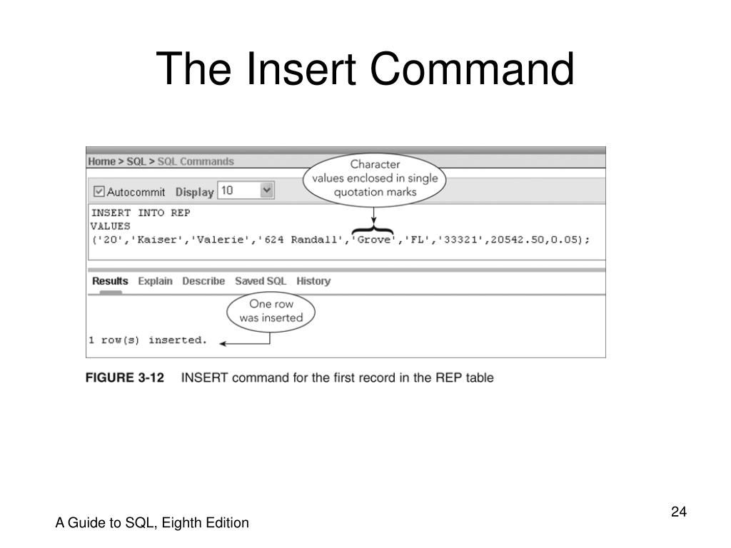 The Insert Command