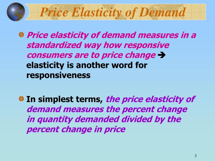 Price elasticity of demand3