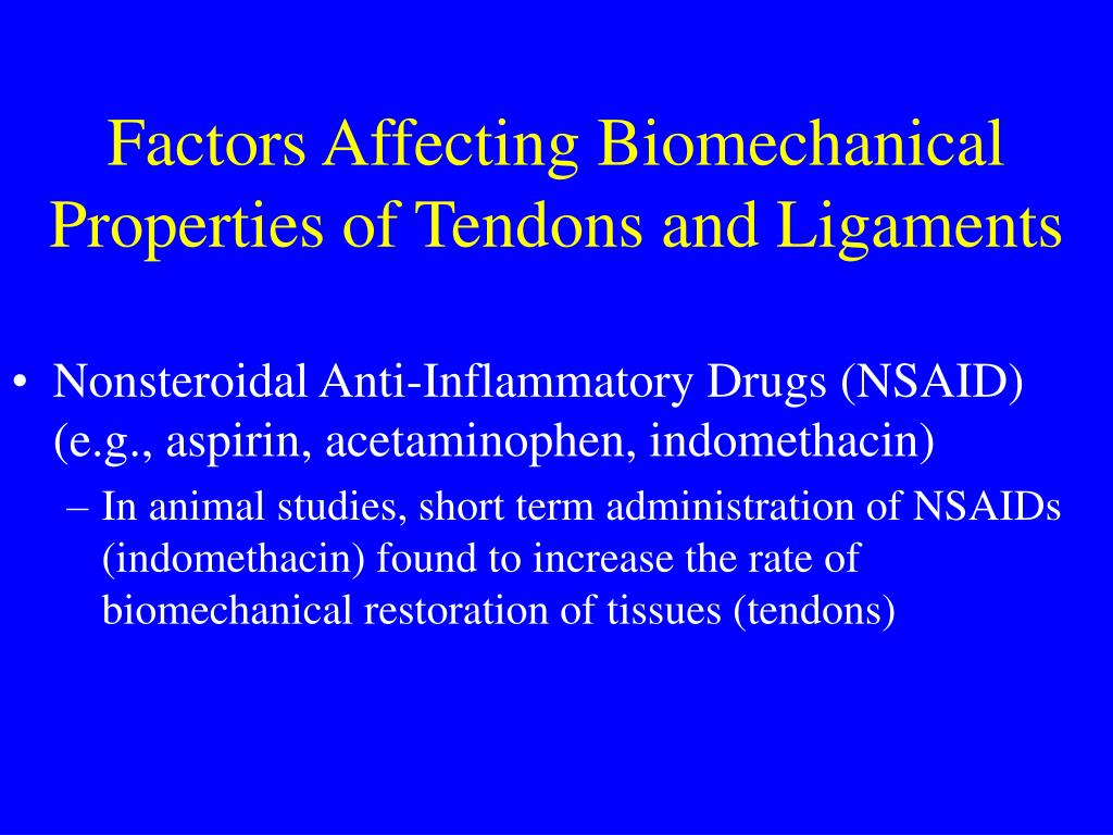 Factors Affecting Biomechanical Properties of Tendons and Ligaments