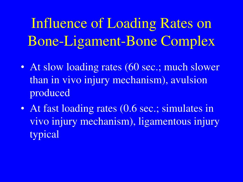 Influence of Loading Rates on Bone-Ligament-Bone Complex