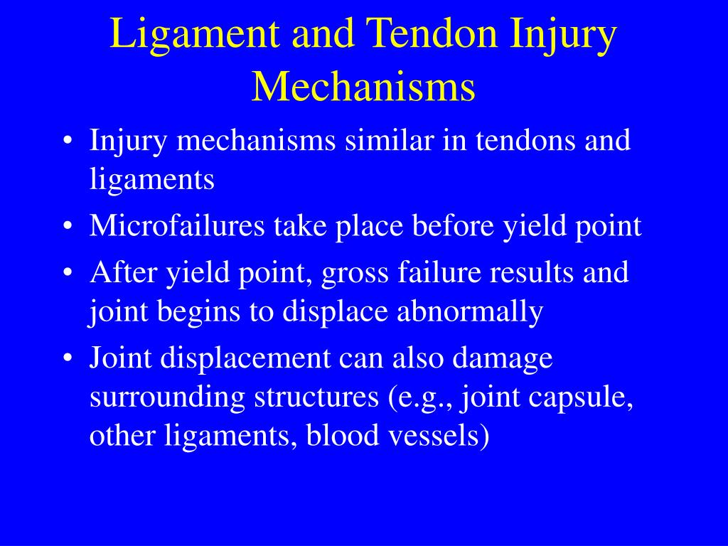 Ligament and Tendon Injury Mechanisms
