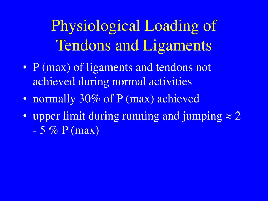 Physiological Loading of Tendons and Ligaments