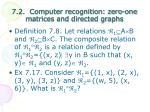 7 2 computer recognition zero one matrices and directed graphs