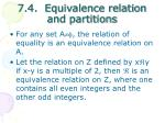 7 4 equivalence relation and partitions