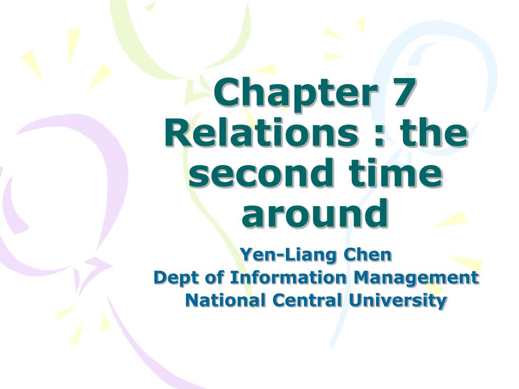 chapter 7 relations the second time around