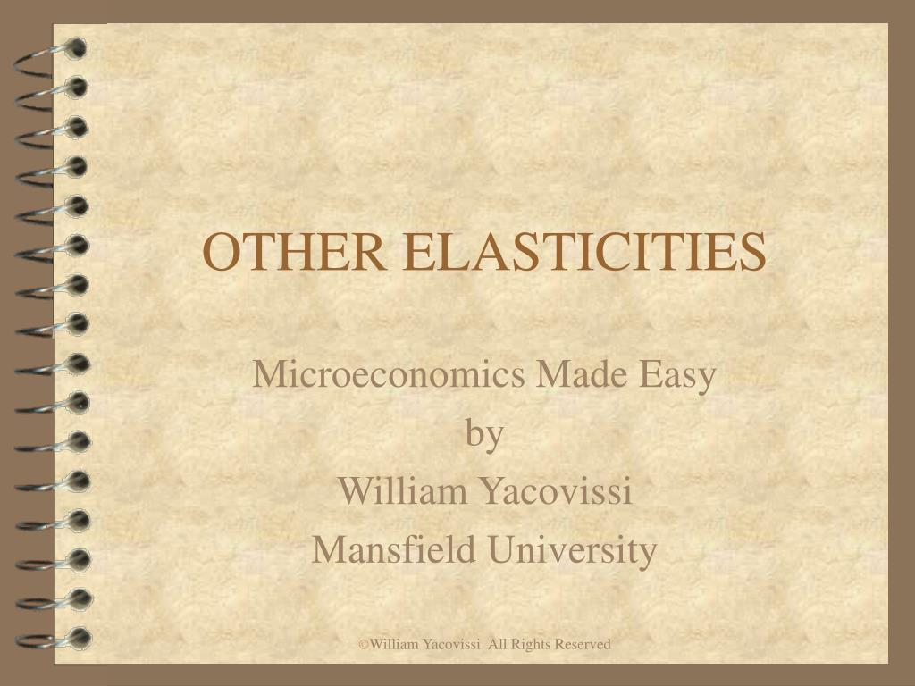 other elasticities l.