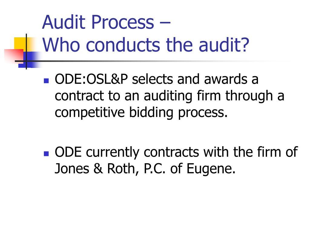 Audit Process –