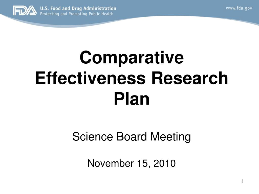 comparative effectiveness research plan science board meeting november 15 2010 l.