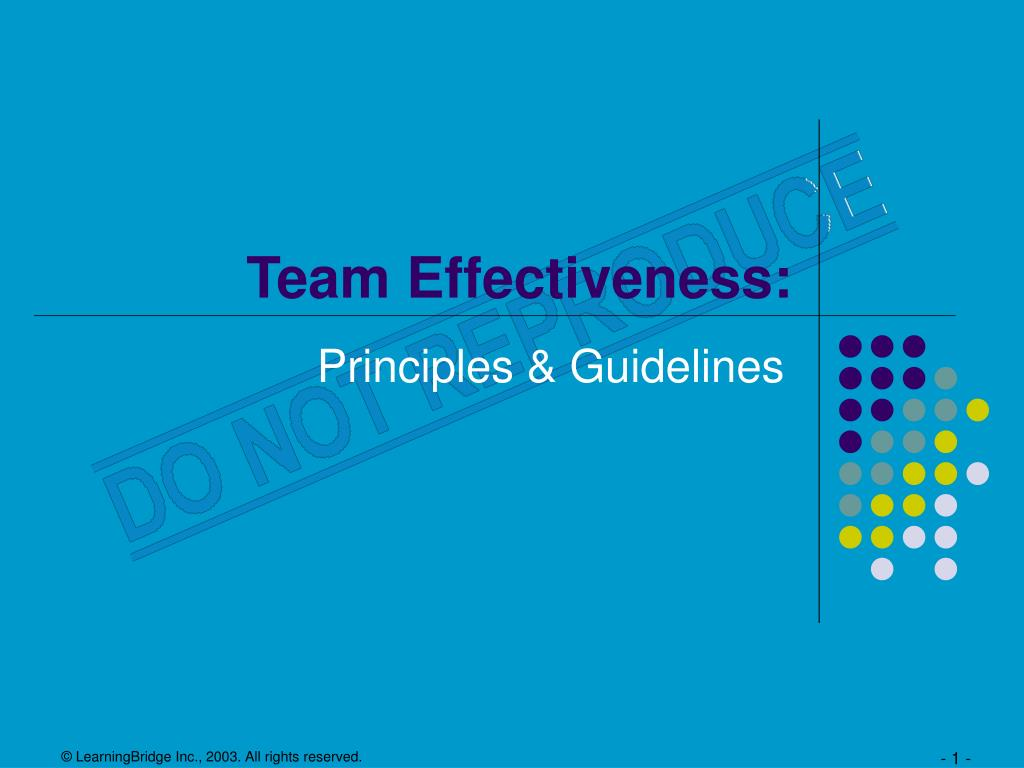Team effectiveness business powerpoint presentation powerpoint.