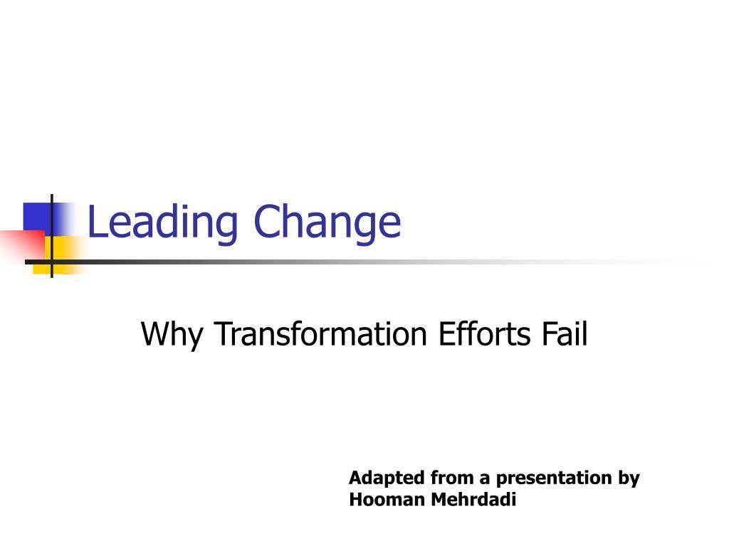 leading change l.