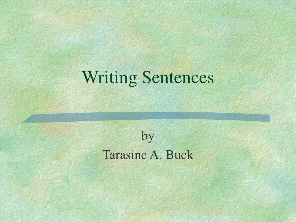 writing sentences l.