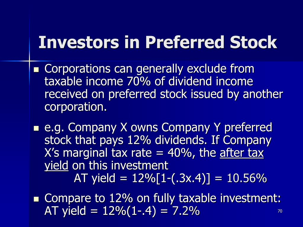 Investors in Preferred Stock