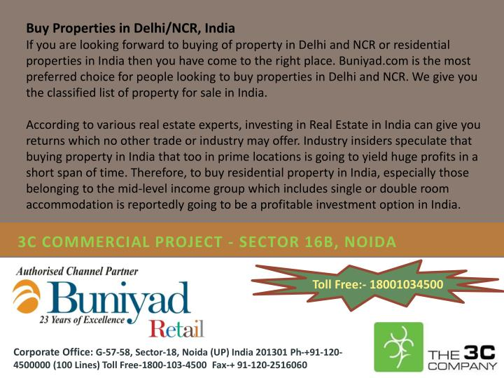 3c commercial project sector 16b noida
