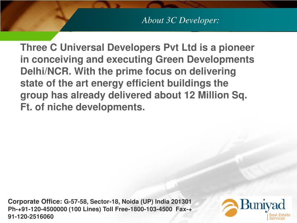 About 3C Developer: