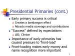 presidential primaries cont