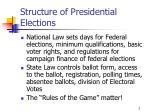 structure of presidential elections