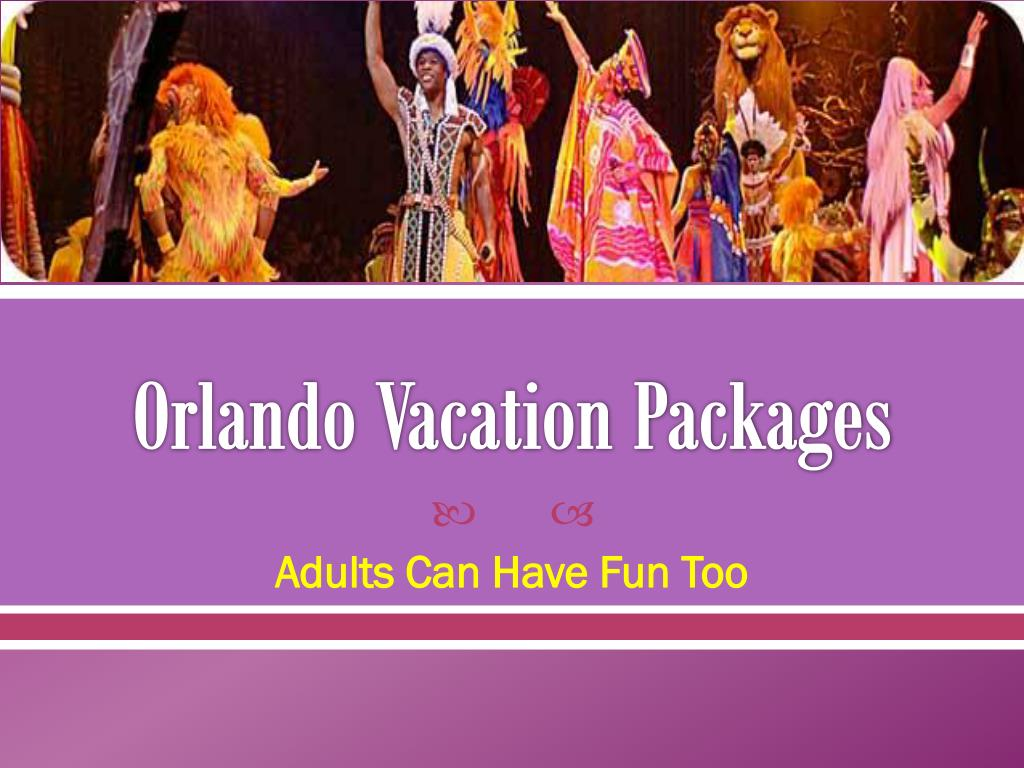 orlando vacation packages l.