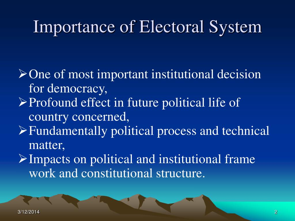 Importance of Electoral System