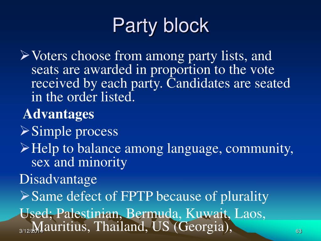 Party block