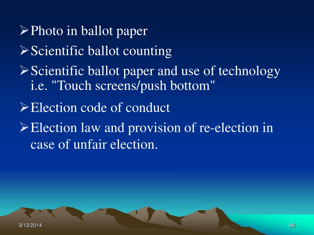 Photo in ballot paper