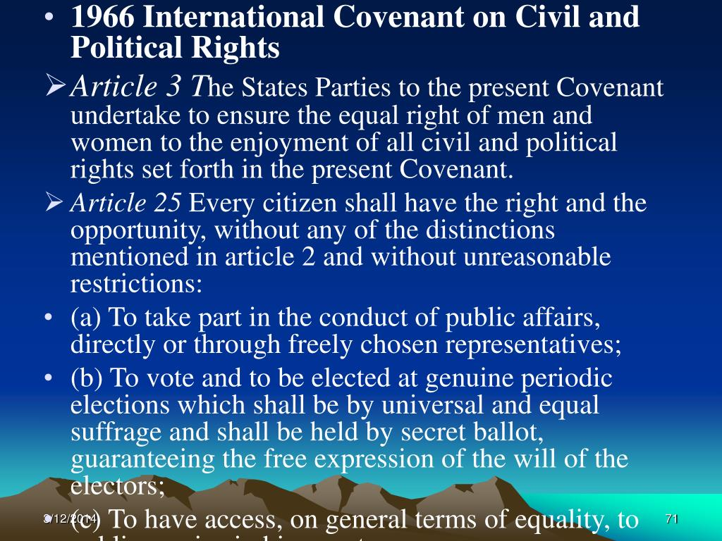 1966 International Covenant on Civil and Political Rights