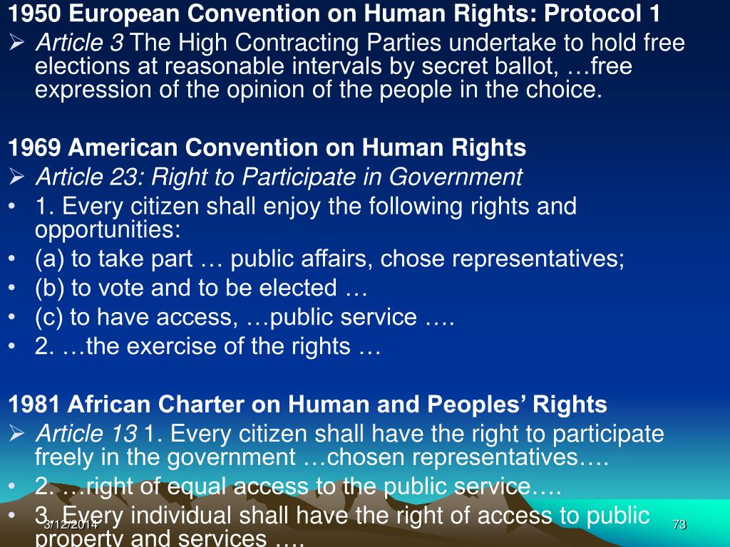 1950 European Convention on Human Rights: Protocol 1