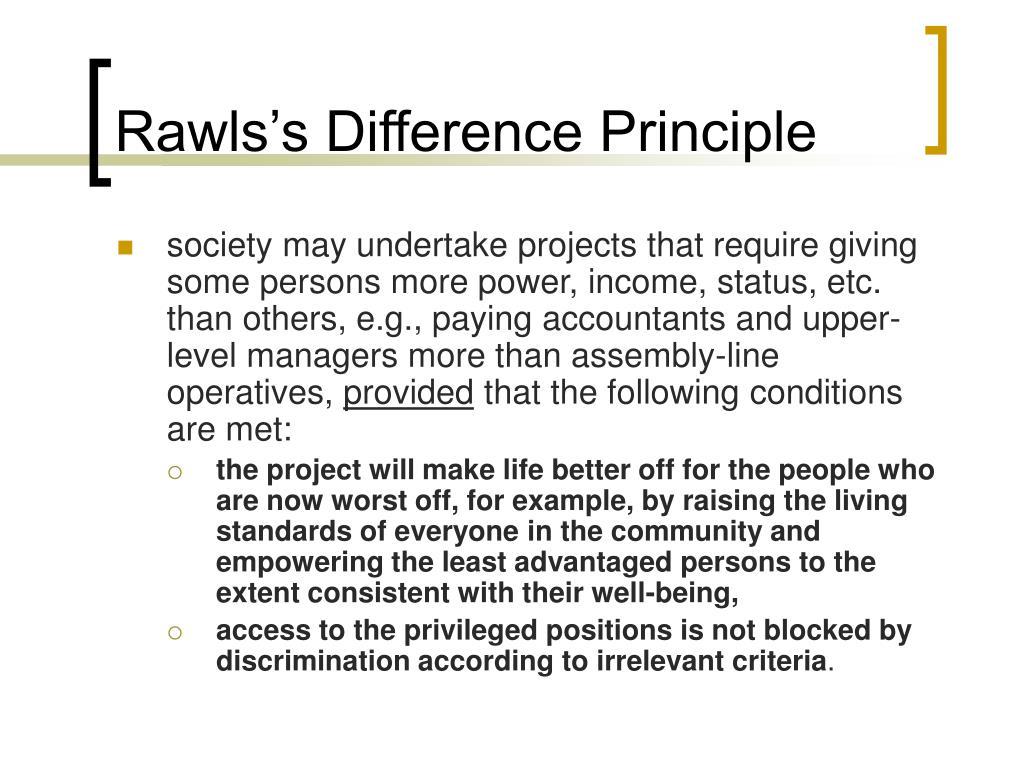 Rawls Difference Principle