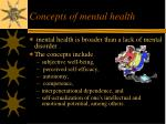 concepts of mental health