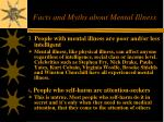 facts and myths about mental illness25