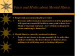 facts and myths about mental illness26