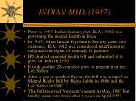 indian mha 1987