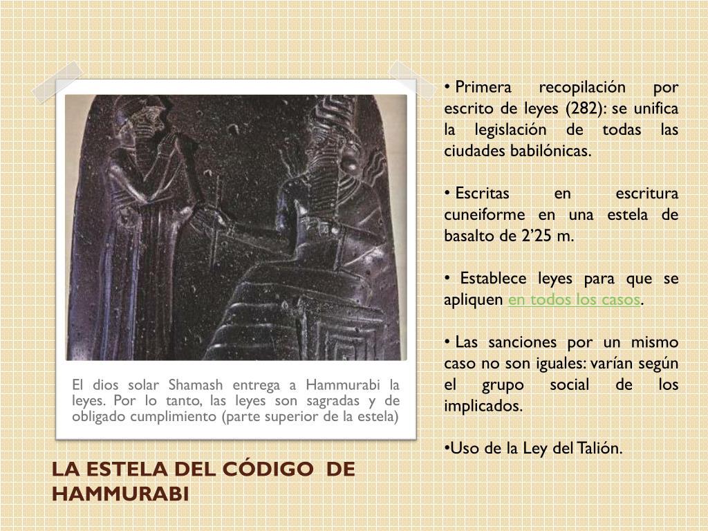 Primera recopilación por escrito de leyes (282): se unifica la legislación de todas las ciudades babilónicas.