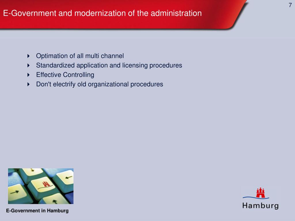 E-Government and modernization of the administration