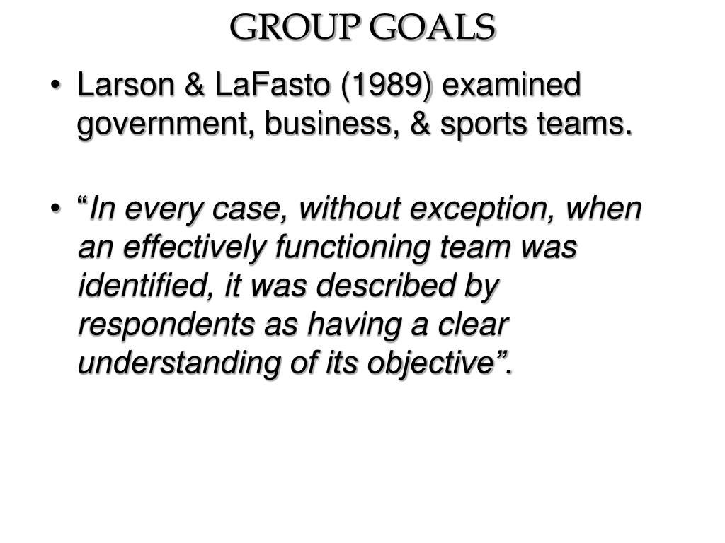 group goals l.