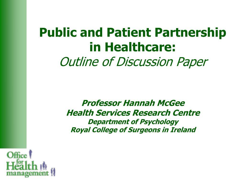 Public and Patient Partnership in Healthcare: