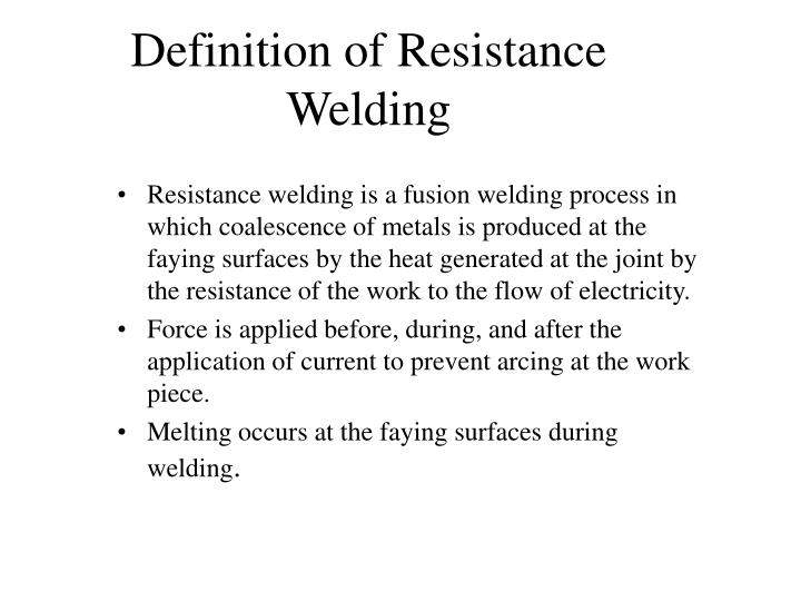 Resistance welding dictionary definition | resistance welding defined resistance welding is defined as
