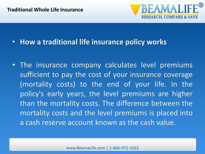 Traditional Whole Life Insurance