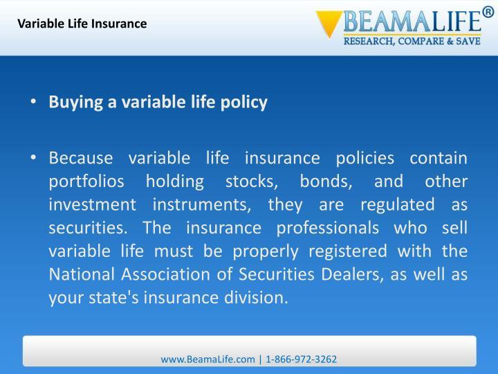 Variable Life Insurance