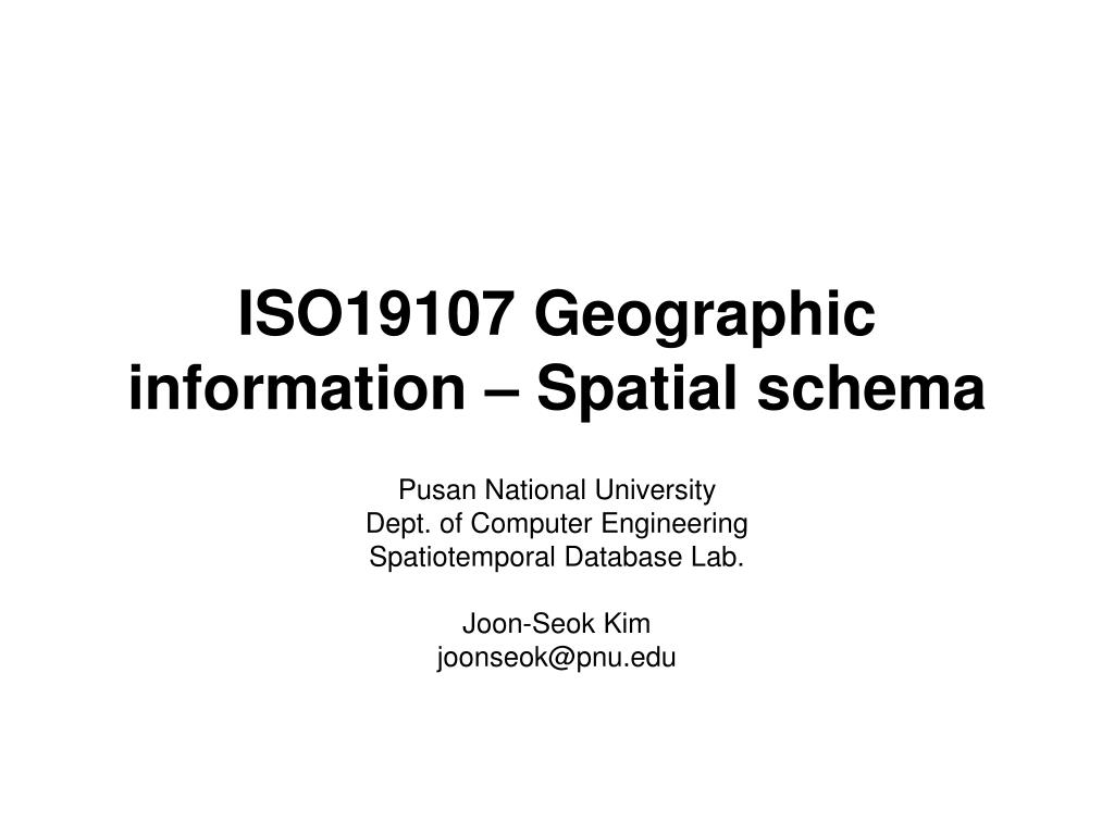 iso19107 geographic information spatial schema l.