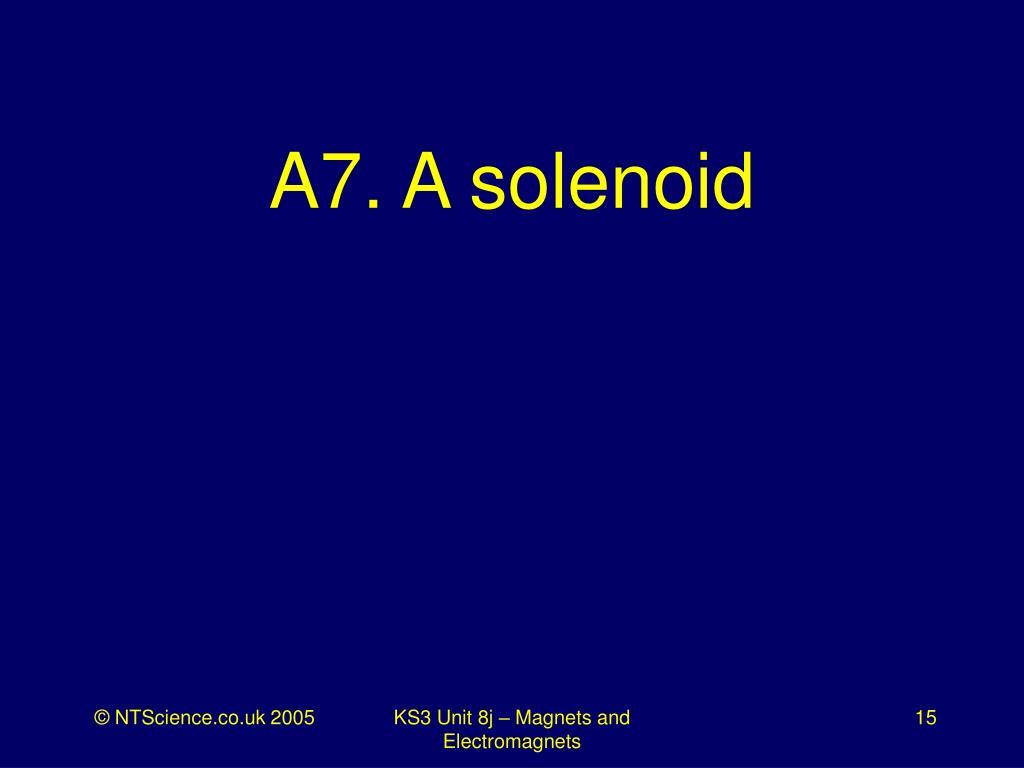 A7. A solenoid