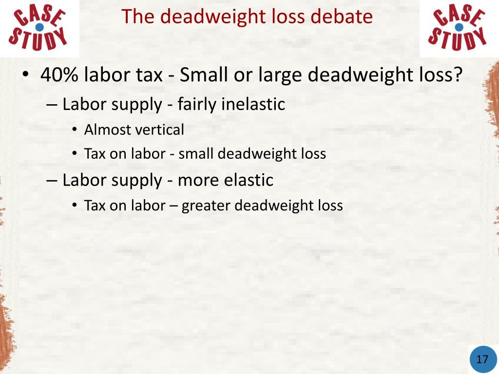 The deadweight loss debate