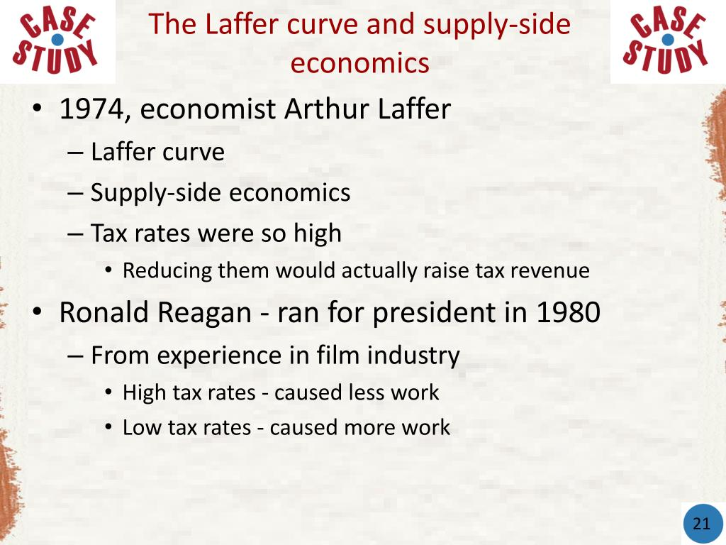 The Laffer curve and supply-side economics