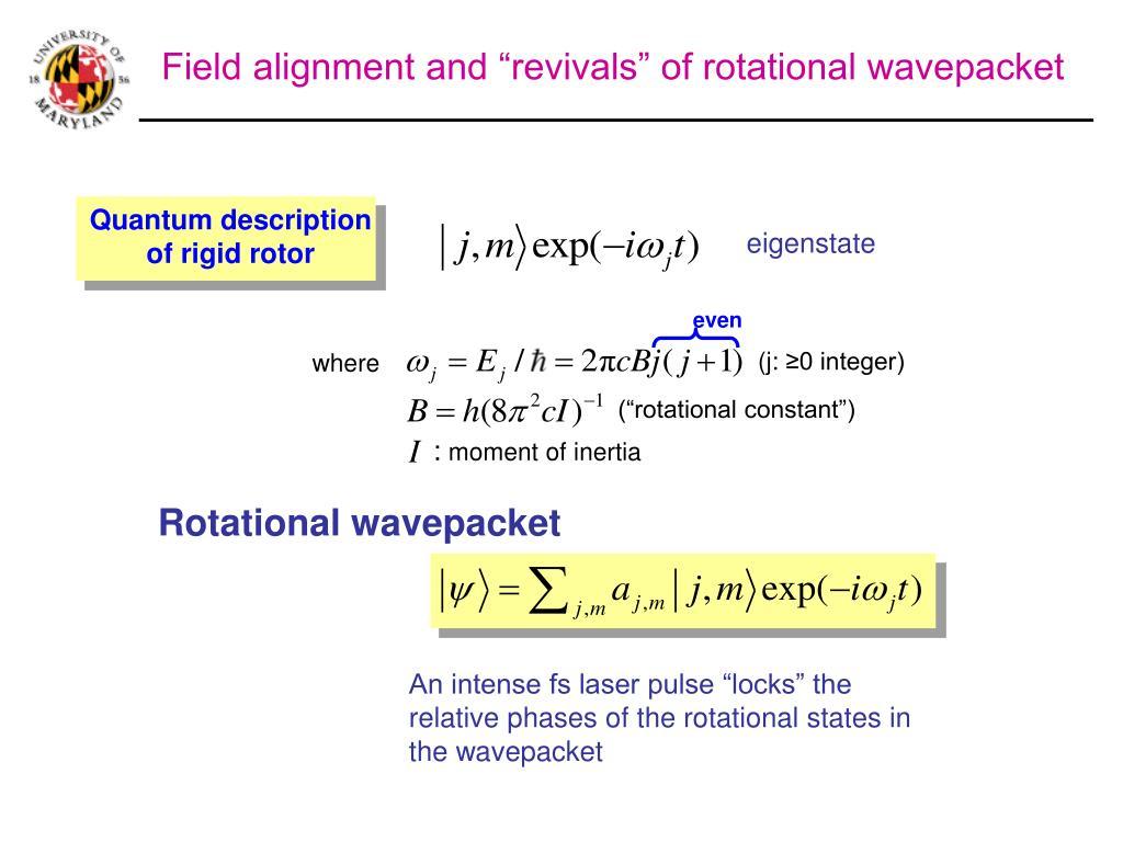 Quantum description of rigid rotor