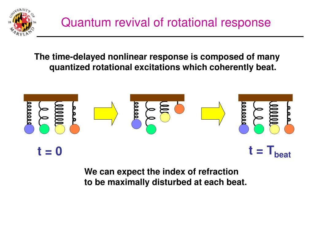 Quantum revival of rotational response