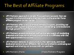 the best of affiliate programs