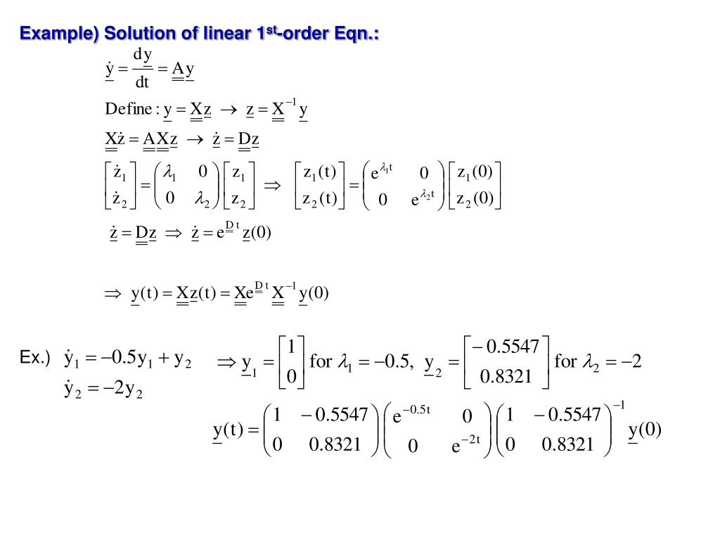 Example) Solution of linear 1