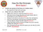 how do we eliminate blind spots