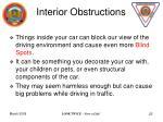 interior obstructions