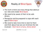 reality of blind spots