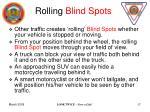 rolling blind spots